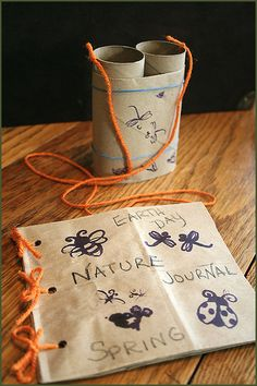 DIY binoculars and nature journal - great craft for Earth Day!