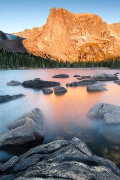 Sunrise Two Rivers Lake, Rocky Mountain National Park, Colorado