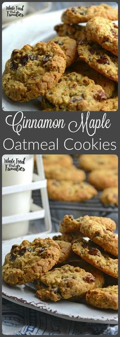 Cinnamon Maple Oatmeal Cookies satisfy your sweet and treat cravings with a healthy combination of oats, maple and cinnamon. /wholefoodrealfa/
