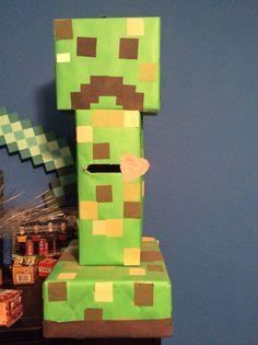 Minecraft Valentines Box idea!! Creeper