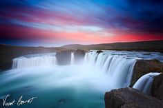 Godafoss. One of the famous waterfalls in Iceland.