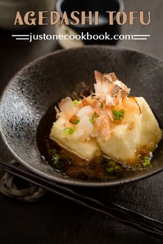 Agedashi Tofu (揚げ出し豆腐) | Easy Japanese Recipes at JustOneCookbook.com