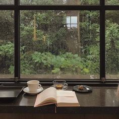 """""""It must be October, the trees are full of colors"""" Cozy Aesthetic, Nature Aesthetic, Rain Window, Rain Photography, Coffee And Books, Study Motivation, Motivation Inspiration, My New Room, Aesthetic Pictures"""