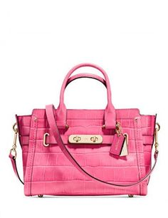 f494bb1119db Coach Swagger 27 In Croc Embossed Leather