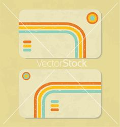 Business retro card vector on VectorStock®