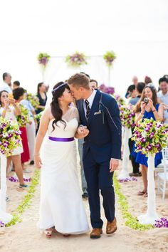 Matthew and Palita's Multicultural Phuket Wedding. Wedding Dress by Jos+Rachel. Photo by Gusde Photography. #wedding #singapore #singaporewedding