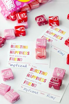 Printable Starburst Valentine Cards These printable Starburst Valentines are perfect for boy or girls, and for younger and older kids. Everyone loves Starburst! My kids are always excited about giving out Valentines in class. Classroom Valentine Cards, Kinder Valentines, Valentines Day Treats, Valentine Box, Valentine Day Crafts, Homemade Valentines, Valentine Ideas, Free Valentine Cards, Valentine Cards For Friends