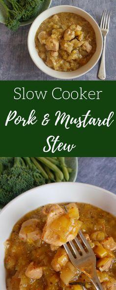 Slow-Cooker Pork & Mustard Stew