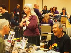 Marco and I at the QSF table  - (court. Melyna Drache)
