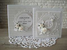 Blog sklepu - CherryCraft.pl: Komunia z Aleją Róż First Communion Cards, Holy Communion Cakes, First Holy Communion, Z Cards, Baby Cards, Cute Cards, Confirmation Cards, Baptism Cards, Wedding Day Cards