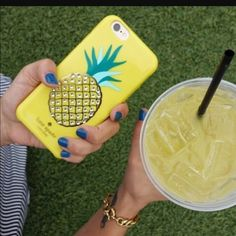Kate spade embellished pineapple iphone 6 case Authentic kate spade embellished pineapple phone case, color is lemon. it is missing some crystals. Fits iphone 6. no trades kate spade Accessories Phone Cases