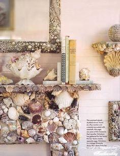 6 Stunning DIY Shell Mosaic Fireplaces