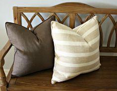 Horizontal Stripe Linen Pillow Cover - Trendy Pillows on Etsy