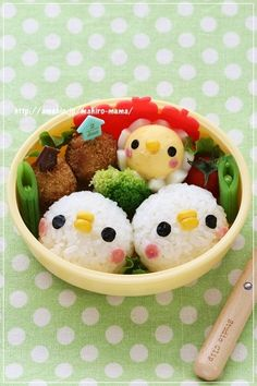 Birds and chick bento