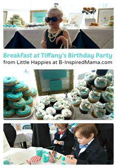 Breakfast at Tiffany's Girls Birthday Party [From the Mamas] - #kids & #Birthday at B-InspiredMama.com