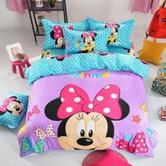 Kids Mickey Minnie Mouse Duvet Cover Present Bedclothes Bedding Sets for Full Queen Bed Quilt cover pillowcase Queen Size Duvet Covers, Comforter Cover, Duvet Bedding, Bed Duvet Covers, Duvet Cover Sets, Girl Bedding, Queen Duvet, 3d Bedding Sets, Comforter Sets