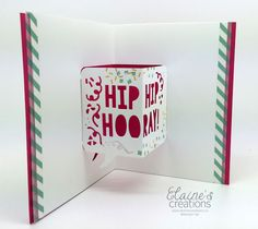 Party with Cake Pop Up Birthday Card inside Stampin' Up!   Elaine's Creations