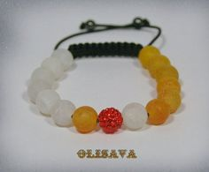 Women  Mala Bracelet  with Orange  Dream Fire Dragon by Olisava