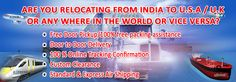 It is now easy to relocate to international borders.  Use express air logistics international courier service for relocation. http://expressairlogistics.com/packers-movers/