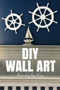DIY Nursery Decorations – Nautical wall art baby boy nursery. nautical nursery theme. infant room decorations.