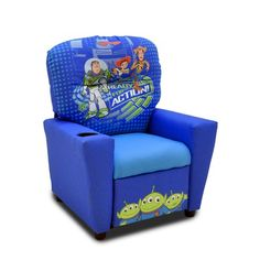 "Disney ""Toy Story Kids Recliner with Cup Holder Toy Story Nursery, Toy Story Bedroom, Toy Story Theme, Toy Story 3, Disney Furniture, Pet Furniture, The Room Place, Disney Bedrooms, Disney Toys"