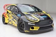2013 Rockstar Energy Drink US Ford Racing Fiesta ST rallycross car.