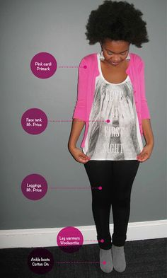 My Fro & I : A South African Natural Hair Blog: This Week's Looks: Cotton On Boots... and a Pink Stripe