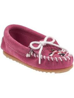 Minnetonka Moccasin Thunderbird II (Infant/Toddler/Youth) I think these would be so cute on Ella.