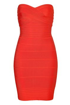 Herve Leger Red Bondage Dress - I will wear this with Louboutin's.