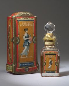 """Parfum Pompeia,"" a perfume bottle for L.T. Piver, circa 1922"