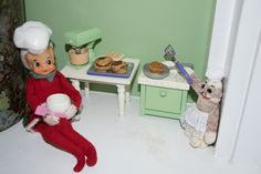 Our Elf on the Shelf days have begun again! Making pancakes.
