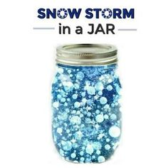 FUN SCIENCE: Make a snow storm in a jar. How cool! (Winter science for kids) #winter #scienceforkids #kidexperiment Kids Winter Crafts, Preschool Winter, Preschool Crafts, Crafts For Kids, Holiday Activities For Kids, Fun Crafts, Daycare Crafts, Xmas Crafts, Make Snow