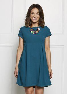 Damenkleid mit rückwärtiger Knopfleiste - Nähtalente