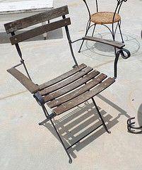 Wood & Metal Frame Outdoor Chair