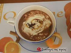 Chocolate Coffee, Greek Recipes, Yummy Drinks, Smoothies, Brunch, Pudding, Sweets, Cookies, Breakfast