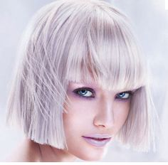bob with bangs violet silver blonde hair a 2013 hair color trend