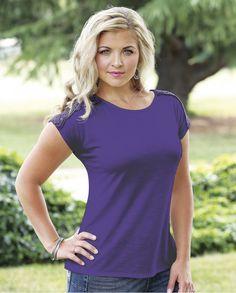 6770d3af7b Aura® By Wrangler® Ladies Adriana Short Sleeve Crew Top - Fort Brands