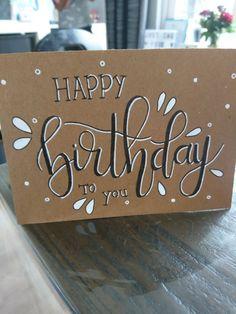 Alles Gute zum Geburtstag – handlettering – Happy birthday – handlettering – the Diy Birthday Sign, Happy Birthday Signs, Birthday Letters, Funny Birthday Cards, Handmade Birthday Cards, Art Birthday, Birthday Gifts, Handlettering Happy Birthday, Birthday Card Drawing