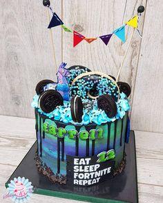 Birthday Drip Cake, 12th Birthday Cake, 10th Birthday Parties, Birthday Fun, Birthday Ideas, Ice Cream Cone Cake, Beautiful Birthday Cakes, Kids Party Themes, Cake Decorating Tips