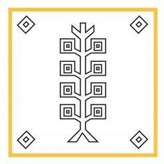 Türk Hayat Ağacı Motifi = Turkish Tree of Life Motive ¦ #Kilim #Turkic #Nomads #Tradition