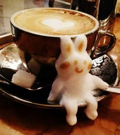 15 Amazing 3D Latte Art From Japan! Kazuki Yamamoto is a Japanese barista who constructs eye-popping works of 3D art using just foam and coffee. Click here to see the ful list ->  http://bestofg.likes.com/kazuki-yamamotos-extraordinary-3d-latte-art-is-joy-in-a-cup?pid=117090&utm_source=mylikes&utm_medium=cpc&utm_campaign=ml&utm_term=26886011