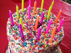 18th Birthday Double Decker Sprinkle Cake made by Patsy's Sweet Shoppe in West Allis, WI.