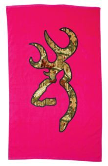 Browning® Camo Buckmark Beach Towel for Ladies | Bass Pro Shops