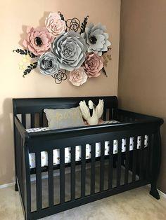 7 pc Paper Flowers Nursery Decor Home Decor customize your Baby Bedroom, Baby Room Decor, Nursery Room, Girl Nursery, Nursery Decor, Nursery Ideas, Paper Flower Art, Paper Flower Backdrop, Giant Paper Flowers