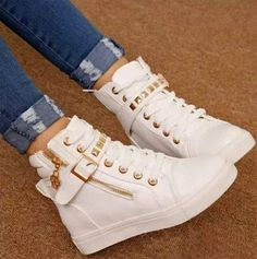 Korean Style Zipper Riveted Comfortable Shoes For the street