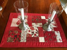 Red & White Table Runner Quilt Moda fabrics by seaquilt on Etsy, $25.00