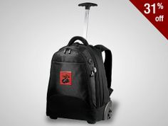 This top-shelf travel companion has it all--main compartment with file dividers and computer pouch, telescoping handle and inline wheels for smooth rolling.  low as $69.21 #PromotionalProducts #Custom #Luggage #Travel