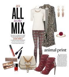 """Animalistic"" by closet-freak ❤ liked on Polyvore featuring Laneus, Miu Miu, L.K.Bennett, Urban Decay, Chanel, Lancôme and animalprint"