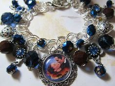 Gone With the Wind  Altered Art Charm Bracelet  ooak ebsq
