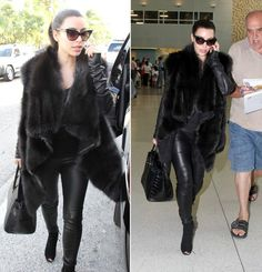 Kim Kardashian's Black Cat Eye Sunglasses